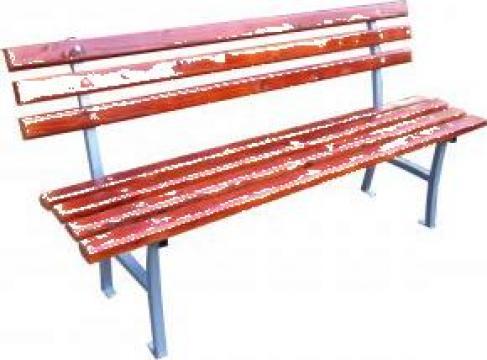 Bancuta parc gradina cu 2 suporti din metal de la Ralmetal Remad Srl