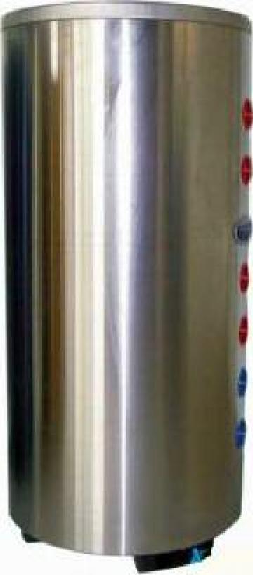 Boiler inox 100 litri cu doua serpentine de la Topsolar