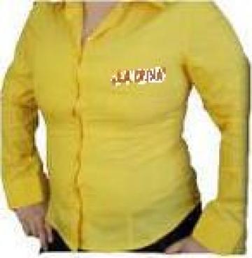 Camasa protectie galbena pentru fete