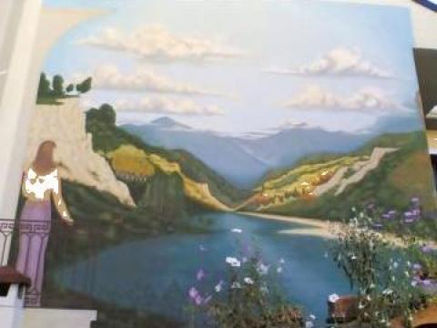 Pictura murala - acrilic pe pereti de la