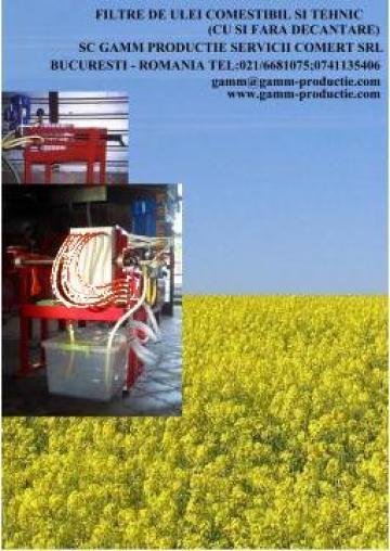 Filtru ulei vegetal de la Gamm Productie Servicii Comert Srl