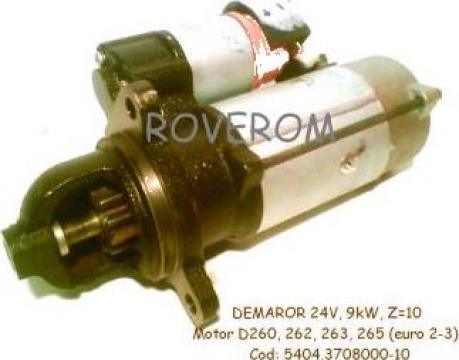 Demaror 24V, 9kW, Z=10, motor D-260, D-262, D-263, D-265