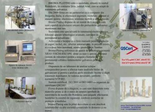 Tratamente de galvanizare electrolitica si chimica