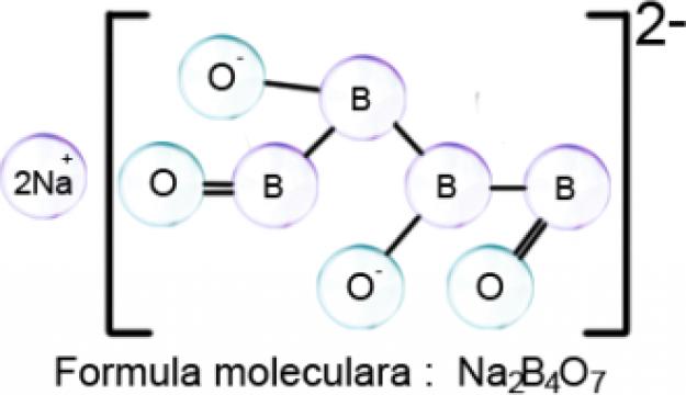 Borax (Tetraborat de sodiu) decahidrat p.a.