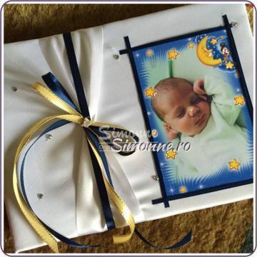 Caiet de amintiri botez personalizat Guestbook de la Simonne