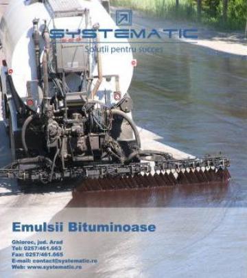 Emulsii bituminoase cationice de la Sc Systematic Srl
