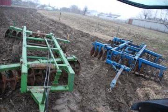 Disc agricol plug cu 3,4,5 cormene tractor Kuhn, Huard