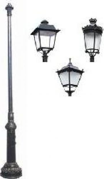 Stalp iluminat ornamental clasic fonta PLGFO12 de la Palagio System Group