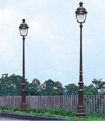 Stalp iluminat ornamental din aluminiu PLGSA6 de la Palagio System Group