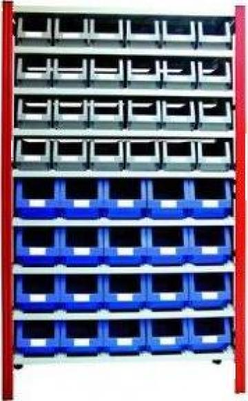 Sistem de rafturi metalice pentru cutii de plastic de la Depobox