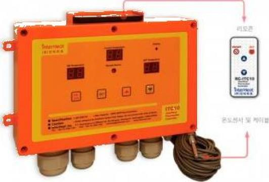 Panou control cu senzor temperatura de la Agro Kit Solarii Srl