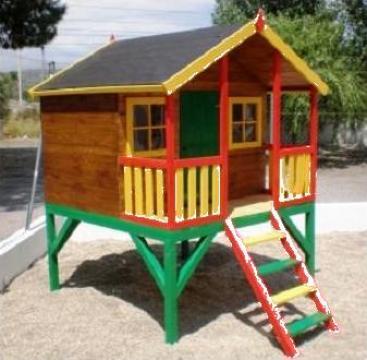 Casute din lemn pentru copii de la Rollux Construct