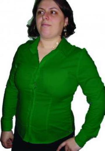 Camasa dama cu maneca lunga verde de la Johnny Srl.