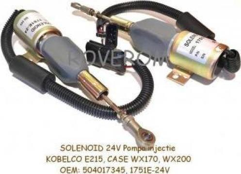 Solenoid 24V, pompa injectie Kobelco E215, Case WX170