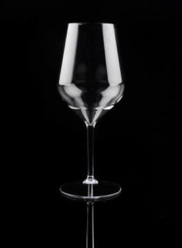 Pahar vin cu picior reutilizabil 470 cc