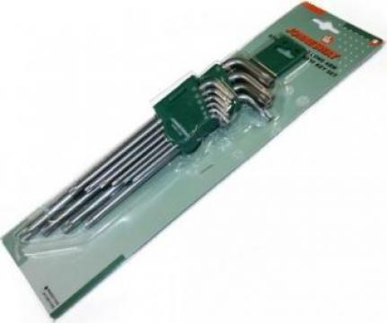 Set chei imbus (Torx) profesionala cu gaura de ghidaj H08S11 de la Zimber Tools