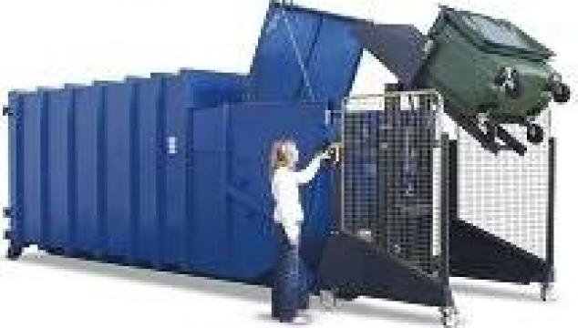 Sistem de basculare containere