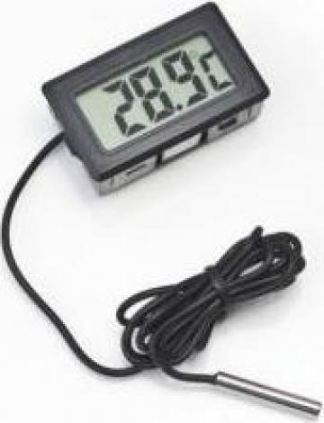 Termometru digital cu fir / sonda, pt. auto, casa, frigider de la Inter Cosmetics Srl