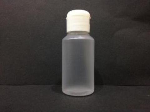 Flacon plastic transparent/alb 100 ml cu dop flip top de la Vanmar Impex Srl