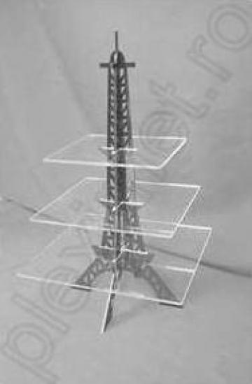 Suport prajituri turn Eiffel pentru candy-bar SPEv 29.1 de la Sc Plexi-Met Srl