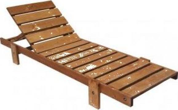 Sezlong plaja din lemn + saltea de la Company Gino Srl