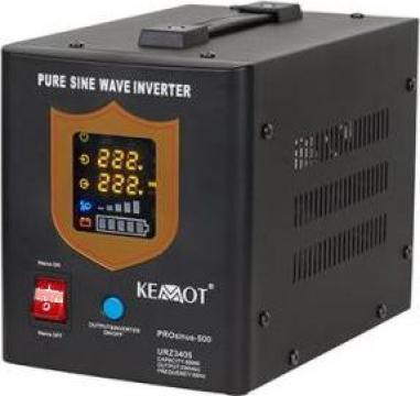 UPS centrale termice Sinus Pur 500w 12v Kemot negru de la Electro Supermax Srl