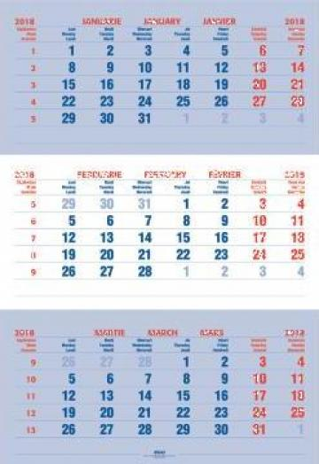 Calendar triptic perete de la Best Media Style Srl