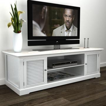 Comoda TV din lemn alb