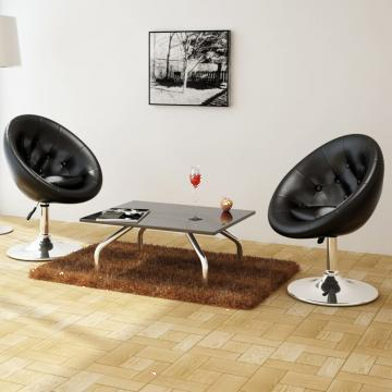 Set 2 scaune bar negru