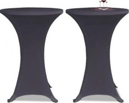 Husa elastica pentru masa, 70 cm, antracit, 2 buc.