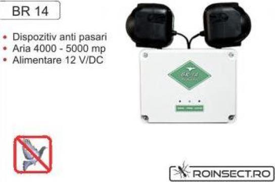 Dispozitiv electronic impotriva pasarilor daunatoare BR14 de la Agan Trust Srl