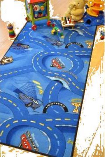 Covor copii Cars albastru