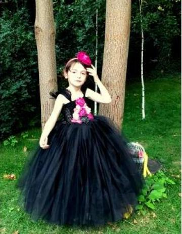 Rochita eleganta neagra pentru fetite 1423 de la Sabine Decor Shop Srl-d