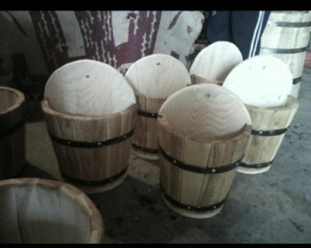 Ghivece lemn de la