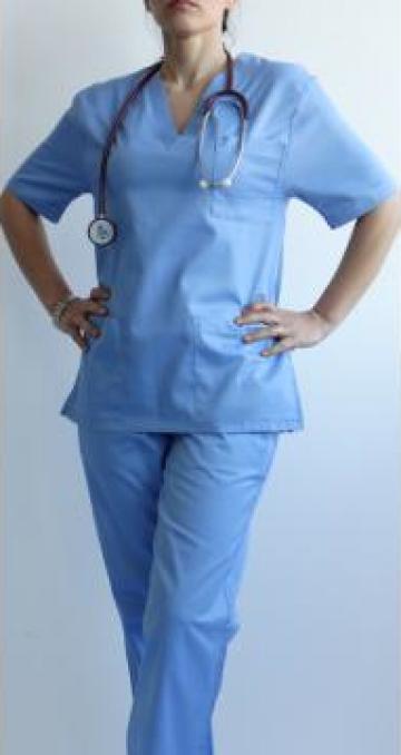 Pantalon medical bleu tercot