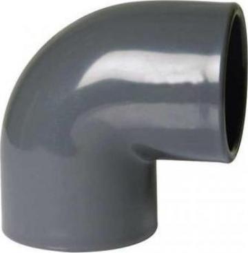 Cot 90 grade PVC de presiune, lipire de la Sc Gemix Srl
