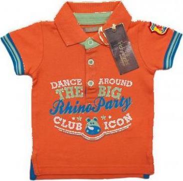 Tricou orange pentru baieti Polo