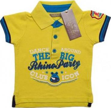 Tricou galben pentru baieti Polo