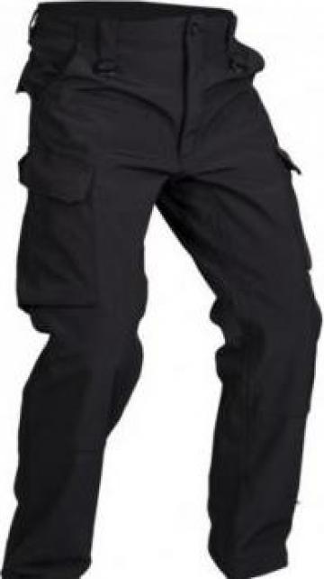 Pantalon negru de paza din tercot