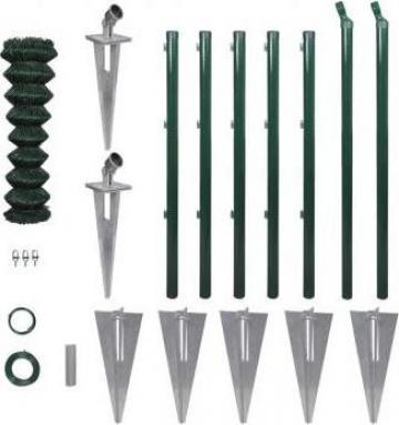 Set gard de sarma cu stalpi cu pivot si accesorii 1,25 x 15