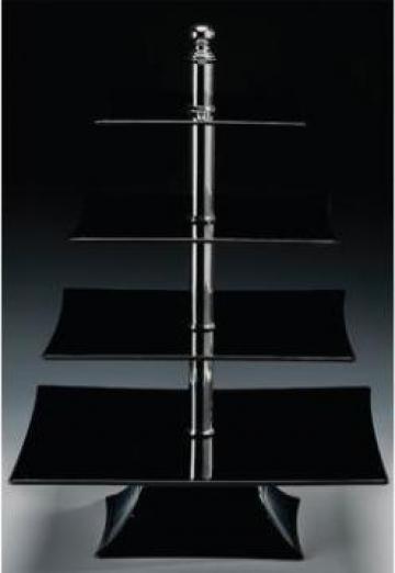 Display prezentare din policarbonat cu patru niveluri negru