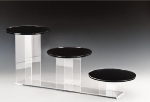 Stand prezentare 3 torturi cu suprafata oglinda de la Basarom Com