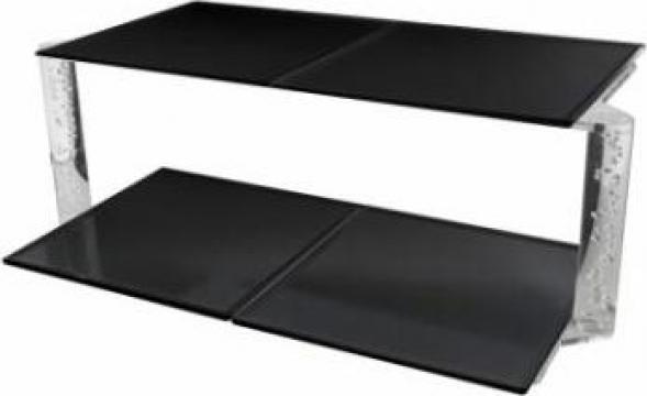 Suport acrilic 2 niveluri cu 4 tavi de melamina de la Basarom Com