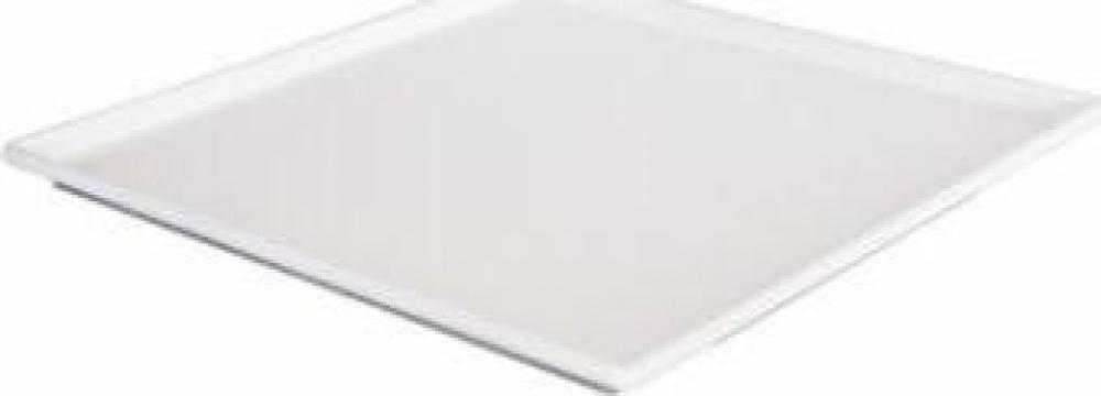 Platou Raki patrat melamina 24,5x24,5x1cm alb de la Basarom Com