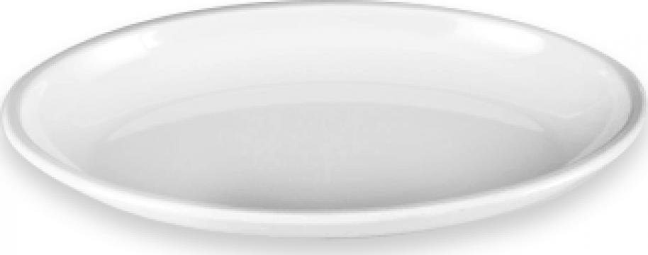 Platou rotund policarbonat Raki 36xh7cm alb de la Basarom Com
