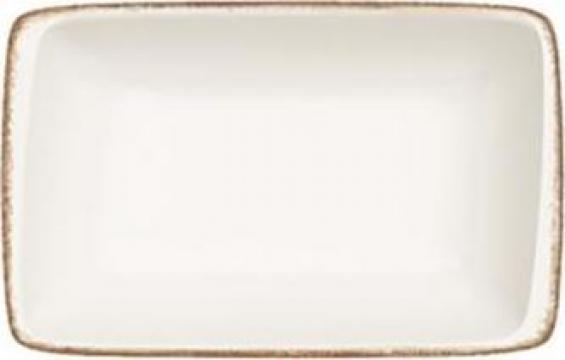 Farfurie portelan dreptunghiulara Bonna colectia Retro15x9cm de la Basarom Com