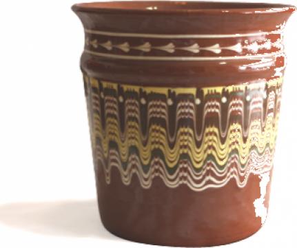 Galeata pentru sampanie ceramica, lut de la Basarom Com