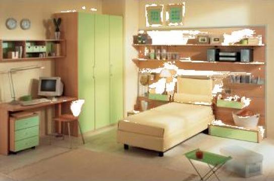 Mobilier camera de copii Eolo verde, Berloni, Italia de la Omnitech Trading