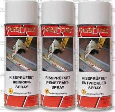 Kit detectare fisuri profesional, spray lichide penetrante de la Teom Tech Srl