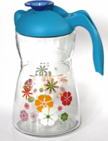 Cana apa, suc 1,5litri decor flori de la Basarom Com